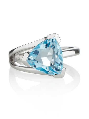 Valentine Blue Topaz Sterling Silver Ring