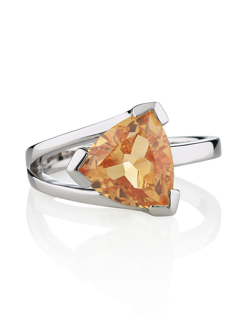 Citrine Silver Ring | Valentine's Day Gifts For Her | Free Shipping