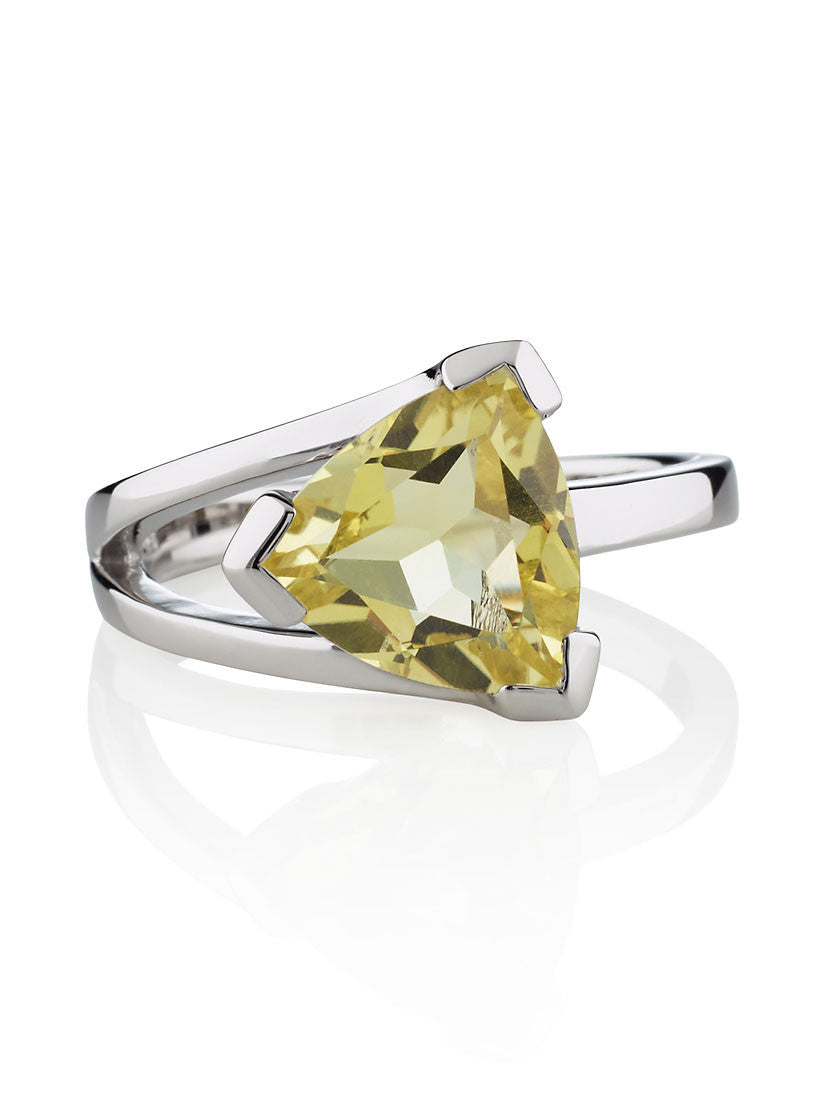 Valentine Lemon Quartz Sterling Silver Ring by Manja - Art Jewellery Store: Song of Jewellery