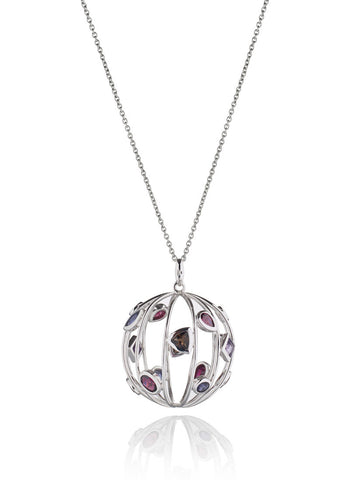 Votra Mixed Gem Pendant Necklace