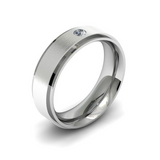 Wedding Band For Him With Diamond