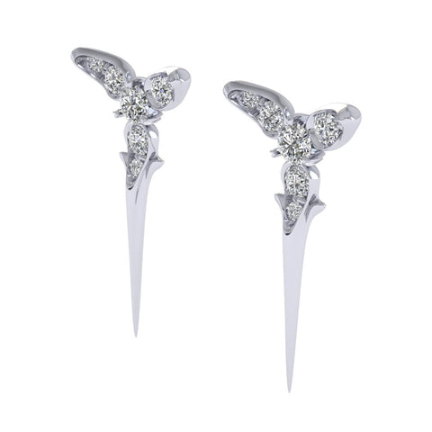 White Gold Trinity Studs by Sebastian Pintea - Art Jewellery Store: Song of Jewellery