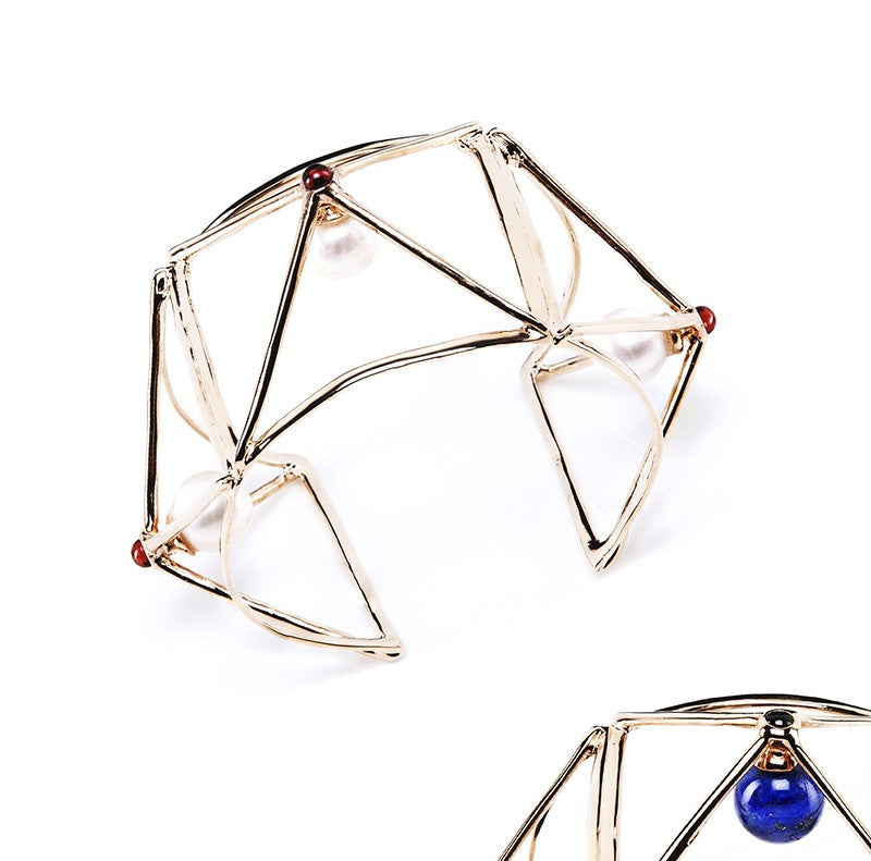 Statement Wire Cuff by Co.Ro. Jewels - Art Jewellery Store: Song of Jewellery