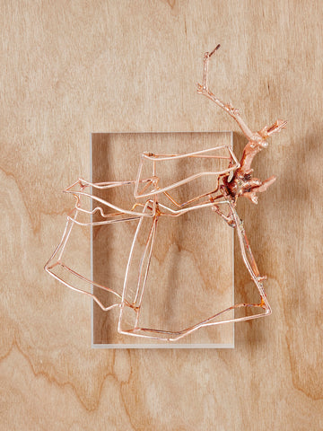 Wire Frame Packaging Brooch by Corrina Goutos - Art Jewellery Store: Song of Jewellery
