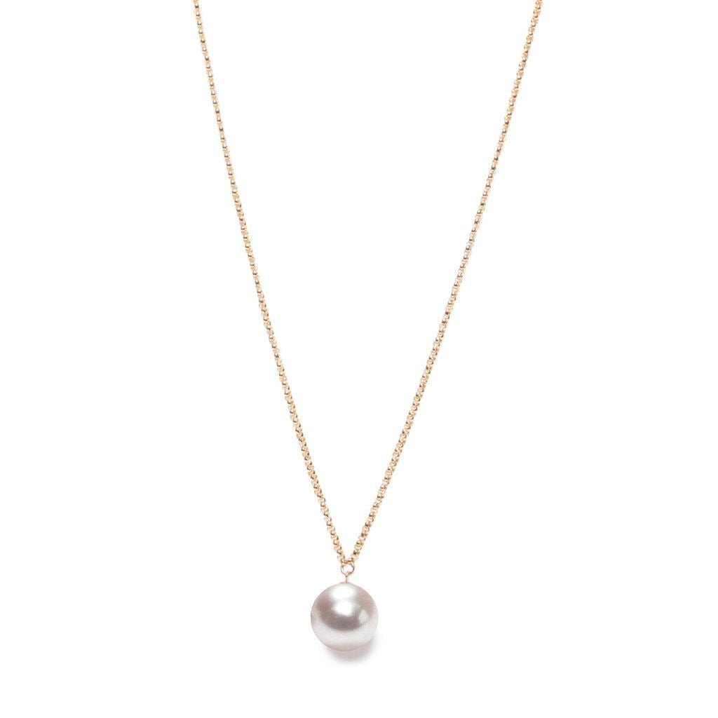 XXL Pearl Pendant on Long Necklace by ORA Pearls London