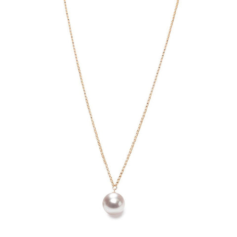 White XXL Pearl Pendant on Long Necklace