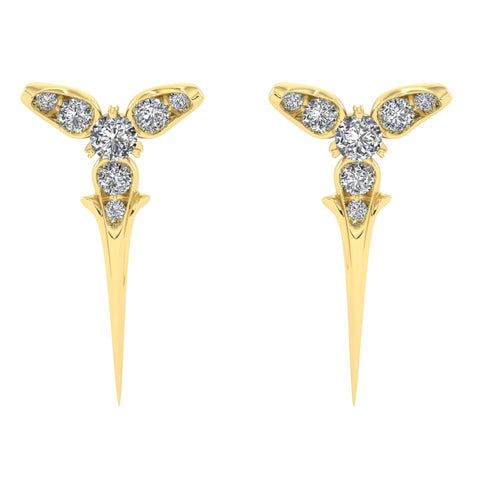 Yellow Gold Trinity Studs