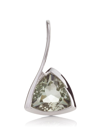 Amore Green Amethyst Silver Pendant