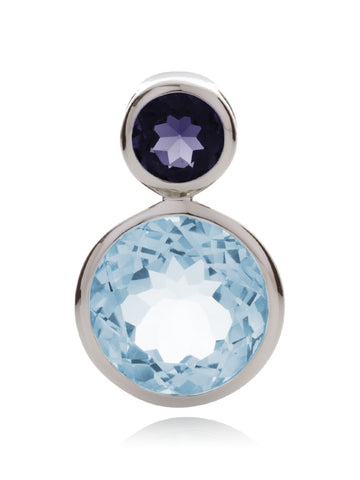 Lana Blue Topaz and Iolite Necklace Pendant