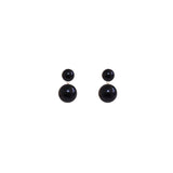 Black Pearl Double Earrings by ORA Pearls