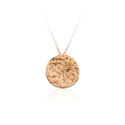 Io Rose Gold Vermeil Necklace with Sapphire