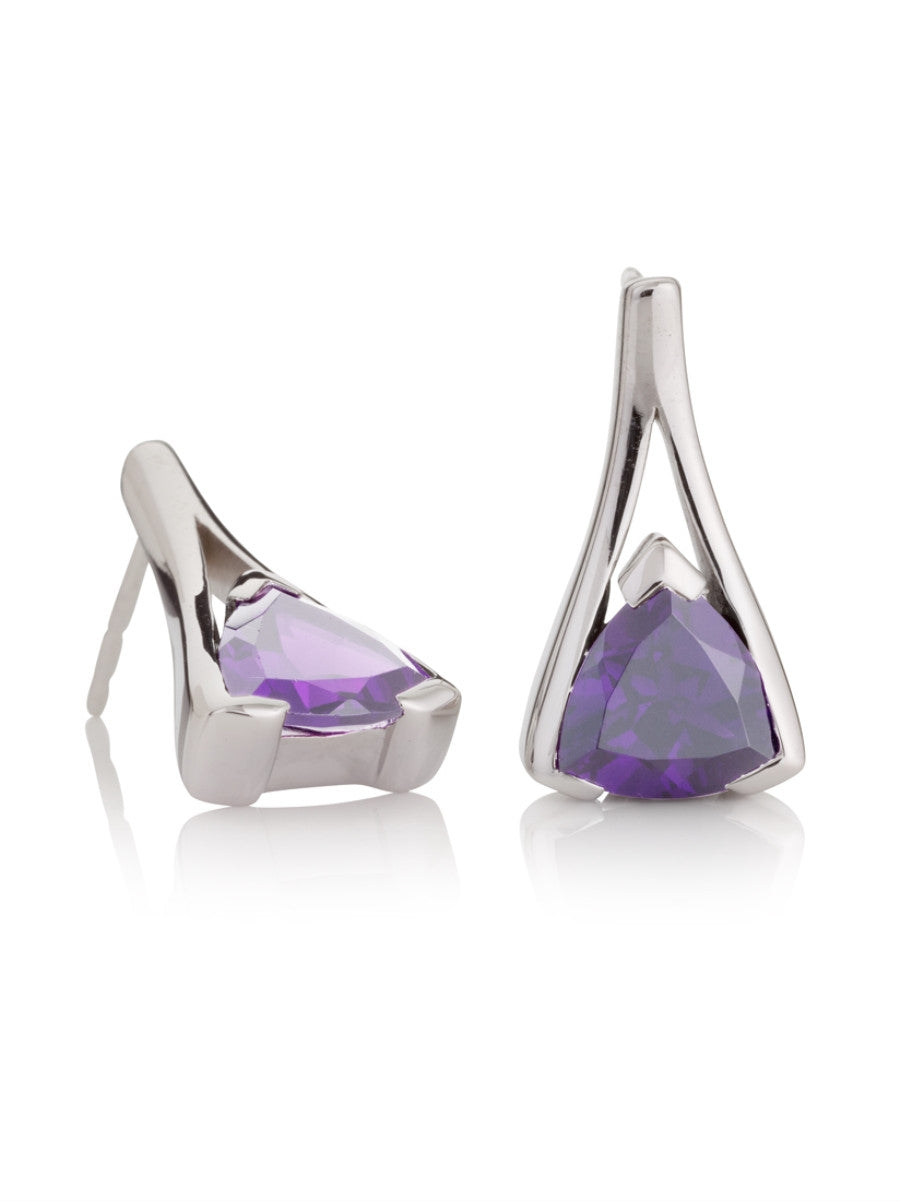 Valentine Amethyst Sterling Silver Earrings by Manja - Art Jewellery Store: Song of Jewellery