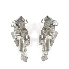 Stud & Cuff Earrings CB-012-B by Kathia Bucho - Art Jewellery Store: Song of Jewellery