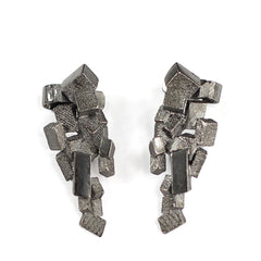 Stud & Cuff Earrings CB-012-N by Kathia Bucho - Art Jewellery Store: Song of Jewellery