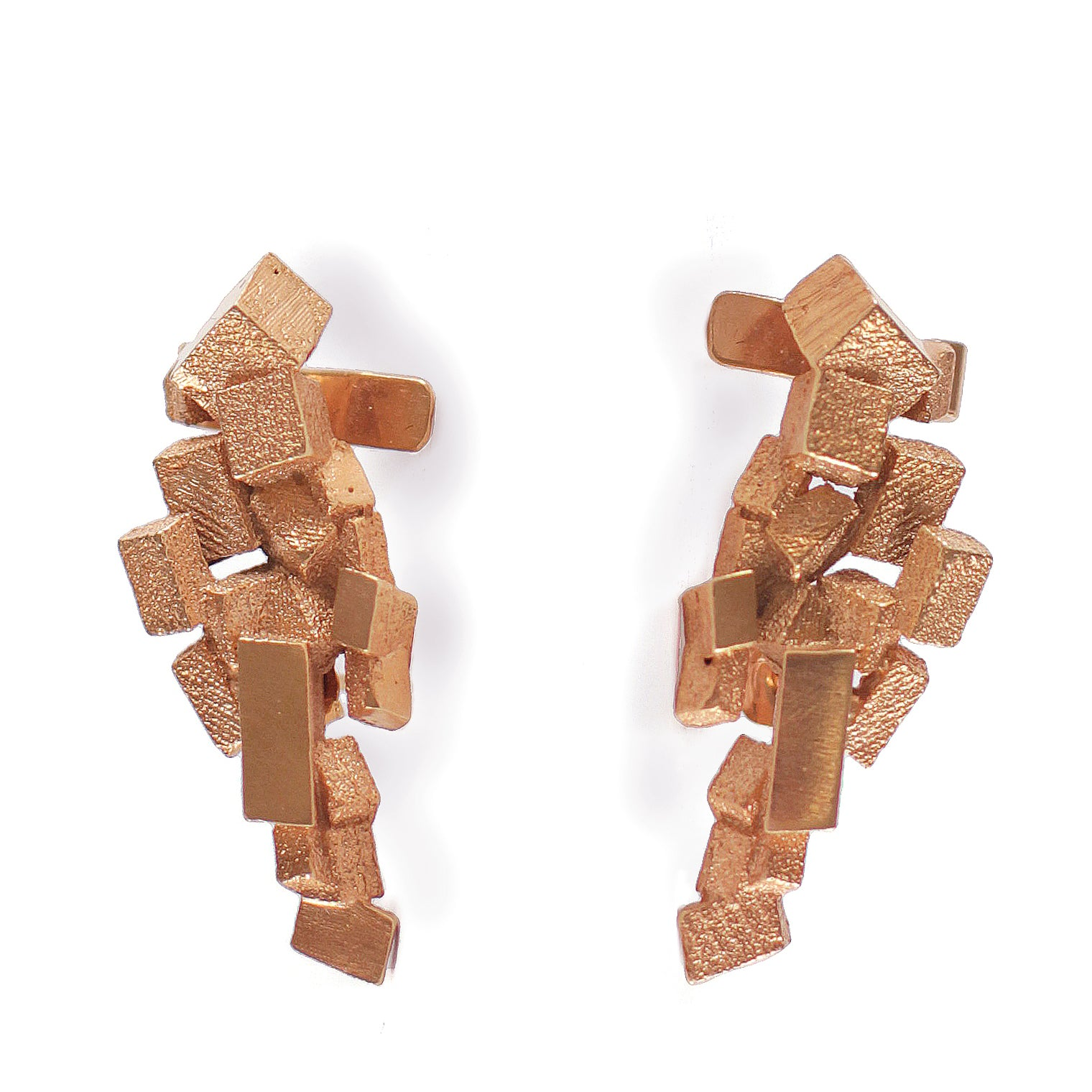 Stud & Cuff Earrings CB-012-R by Kathia Bucho - Art Jewellery Store: Song of Jewellery