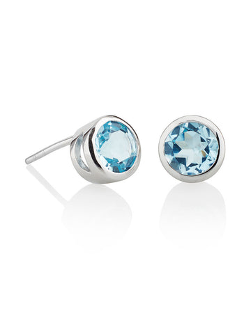 Juliet Sterling Silver Blue Topaz Ear Studs