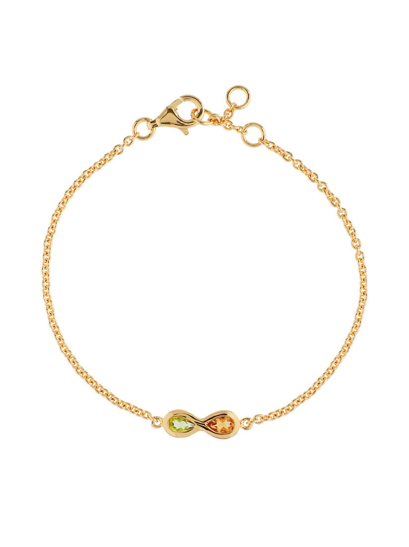 Sempre Yellow Gold Plated Gemstone Bracelet