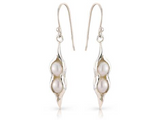 SIlver Peapod Pearl Earrings - Argent London | Song of Jewellery