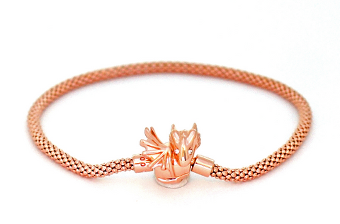 Baby Rose Gold Dragon Bracelet