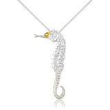 Seahorse Pendant Necklace by Argent London - Art Jewellery Store: Song of Jewellery