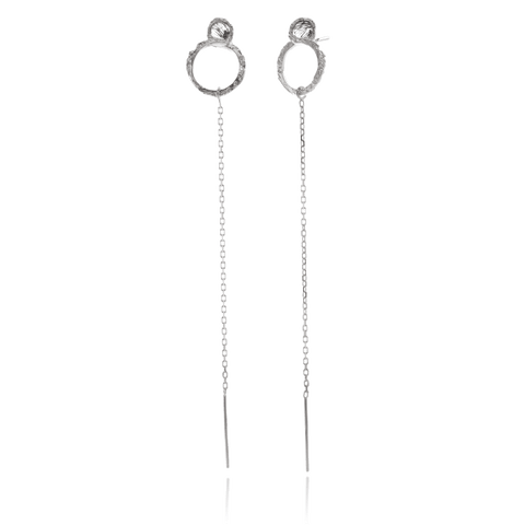 NANOOK Long Round Eye Earrings