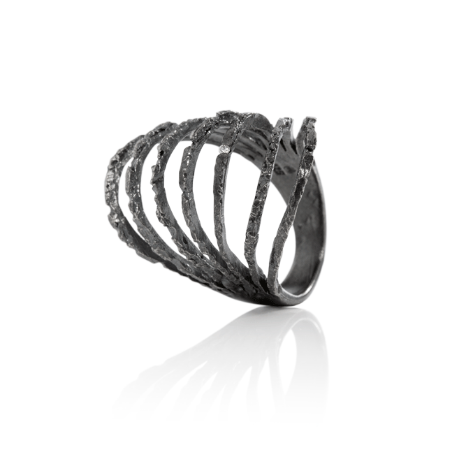 NANOOK Ice Ring Oxidised by Aurum - Art Jewellery Store: Song of Jewellery