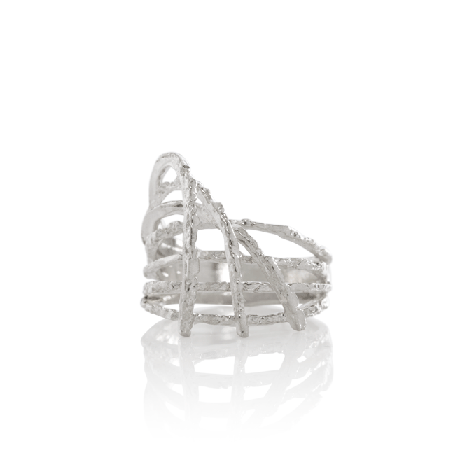 NANOOK Asymmetric Ice Ring by Aurum - Art Jewellery Store: Song of Jewellery