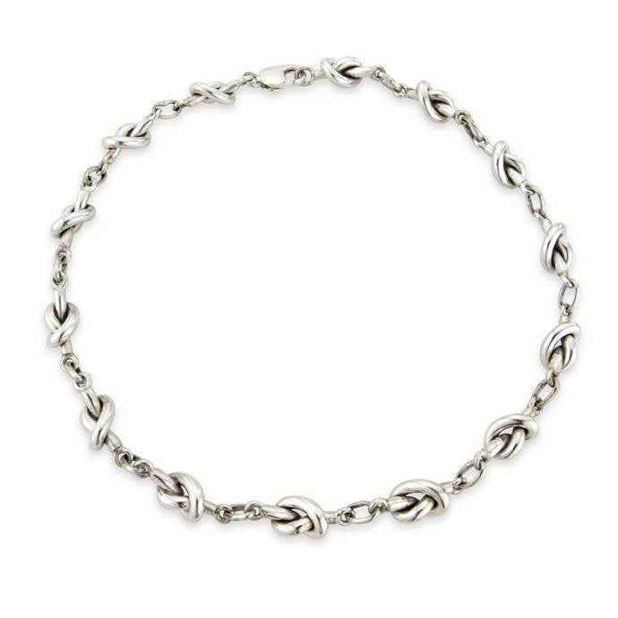 Sterling Silver Knot Necklace by Argent London - Art Jewellery Store: Song of Jewellery