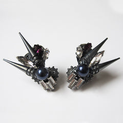 Dune Blue Pearl Spike Earrings by Heiter - Art Jewellery Store: Song of Jewellery
