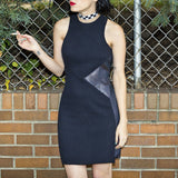 VEE DRESS BLACK