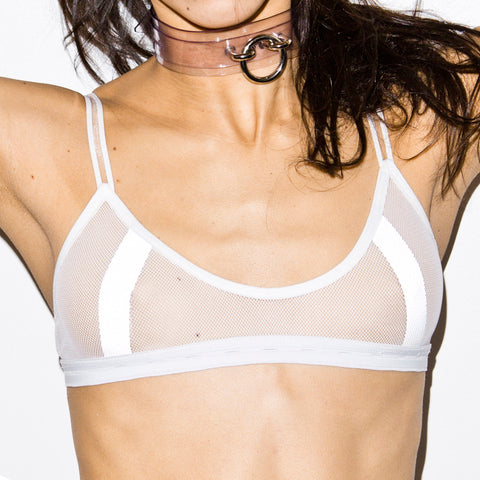 SAFE SEX REFLECTIVE BRALETTE WHITE