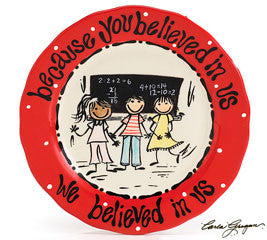 Teacher Plate - You Believed In Us