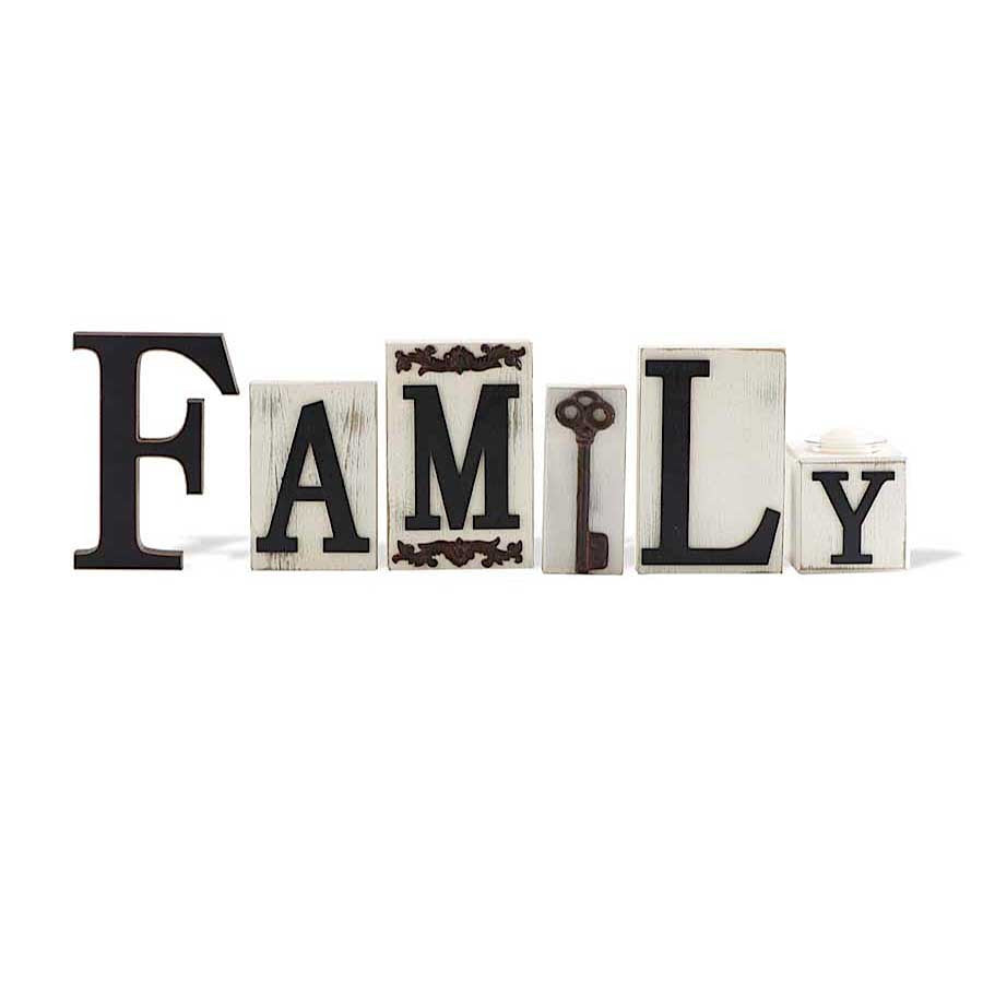 Family Inspirational Bricks w/Key Accents