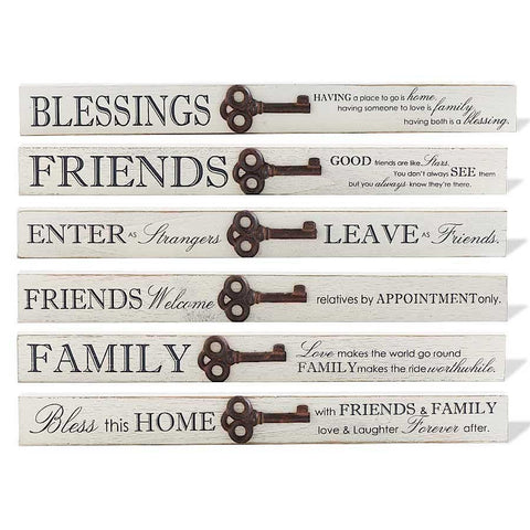 Long Bar Tabletop Signs with Key Accents
