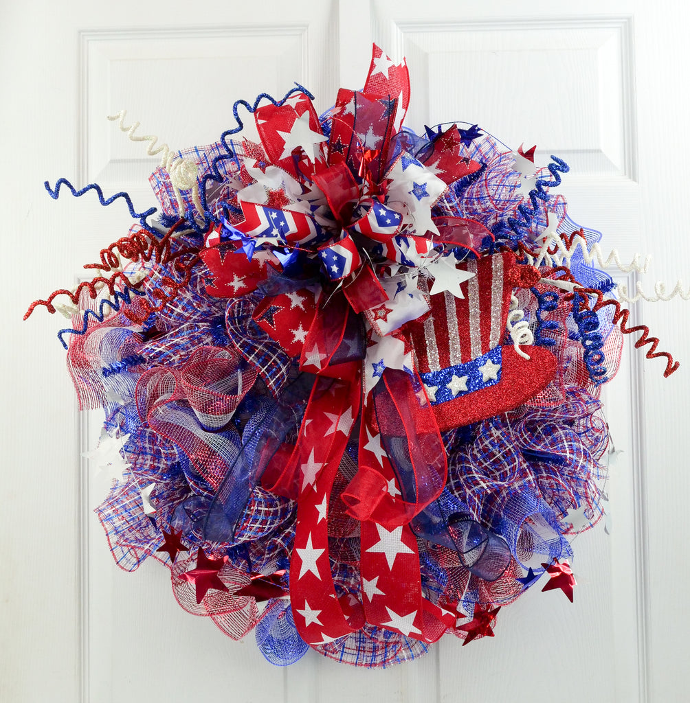 Patriotic Hat Wreath