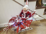 Christmas Elf in Sleigh Arrangement