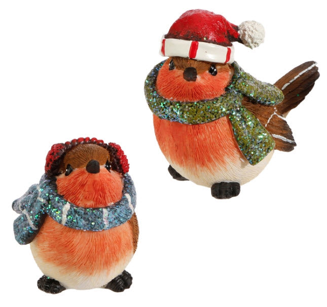 Robins with Hat and Scarf Set