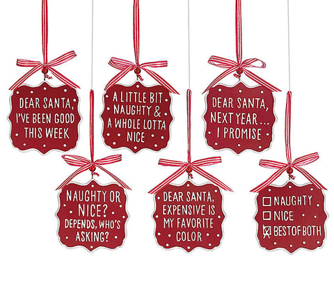 Dear Santa Message Ornaments