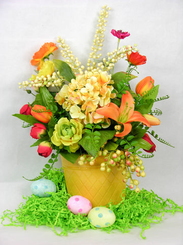 Golden Diamond Spring Arrangement