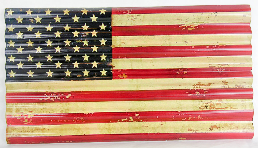 USA Metal Flag Wall Plaque