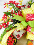 Ladybug Welcome Wreath