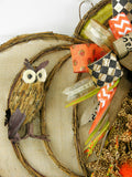 Owl Animal Print Bowed Pumpkin
