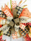 Terri Bow Fall Wreath