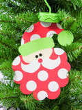 Santa Flat Metal Ornament for Personalization