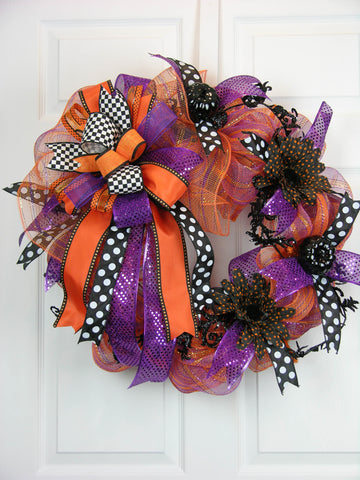 Pumpkin Dot Halloween Wreath