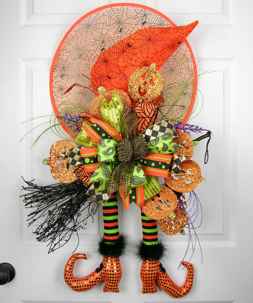 Spider Hat Witch Door Hanger
