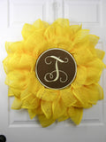 Sunflower Medallion Wreath