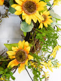 Sunflower Daisy Welcome Wreath