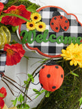 Mossy Welcome Ladybug Wreath