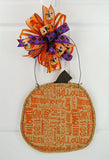 Pumpkin Halloween Door Hanger